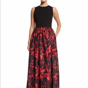 Aidan Mattox Sleeveless Floral Print Ballgown